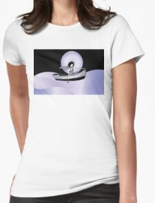 Midnight Moonlit Sail  Womens Fitted T-Shirt