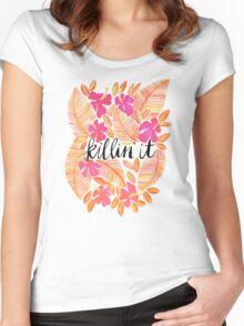 Killin' It – Melon Ombré Women's Fitted Scoop T-Shirt