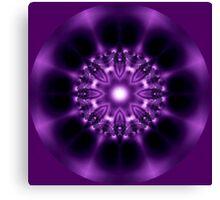 Center Light Purple Satin Mandala Canvas Print