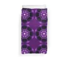 Center Light Purple Satin Mandala Duvet Cover