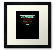 Neon Genesis Evangelion Warning Framed Print