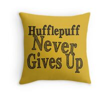 Hufflepuff Badgers Typography Pillow Throw Pillow
