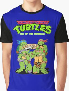 Tenage Mutant Ninja Turtles Funny Pizza Graphic T-Shirt