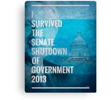 Senate Shutdown of Government Canvas Print