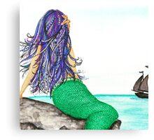 Mermaid Dreams And Sailing Schemes Canvas Print