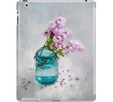 Lilacs in a Green Glass Jar iPad Case/Skin