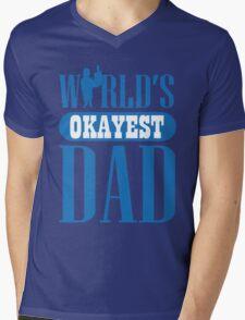 World's okayest dad Mens V-Neck T-Shirt