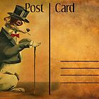 Post Card - The Gentleman Dog by © Kira Bodensted