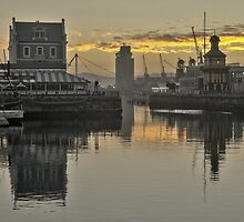 Waterfront sunrise by awefaul