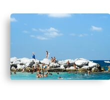 Swimming At Capri : Bay of Naples, Italy Canvas Print