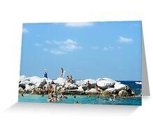 Swimming At Capri : Bay of Naples, Italy Greeting Card