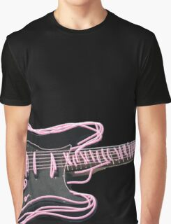 Neon Guitar Graphic T-Shirt