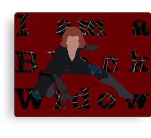 I am a Black Widow (Ver 2) Canvas Print