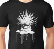 WHT on BLK: Piranha Planet  Unisex T-Shirt