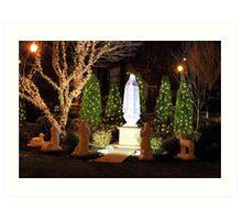 The apparition - Christmas 2013 Art Print