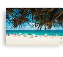Beach Brollys at Main Beach, Noosa Canvas Print