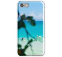 Waiting For Waves at Noosa's First Point iPhone Case/Skin