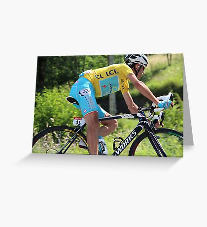 Vincenzo Nibali - Tour de France 2014 Greeting Card