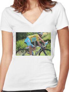 Vincenzo Nibali - Tour de France 2014 Women's Fitted V-Neck T-Shirt