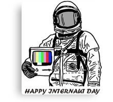 happy internaut day Canvas Print