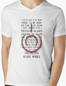 Unlimited Blade Works (Fate/Stay Night) Mens V-Neck T-Shirt
