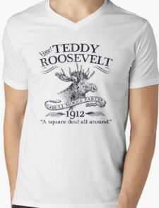 Theodore 'Teddy' Roosevelt 'Bull Moose Party' 1912 Presidential Campaign Mens V-Neck T-Shirt