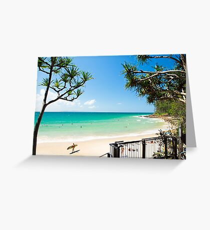 Little Cove Long boarding : Surfing Noosa Greeting Card