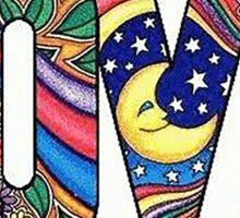 Hippie Style  LOVE Sticker