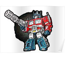 Optimus Prime Chibi - No background Poster