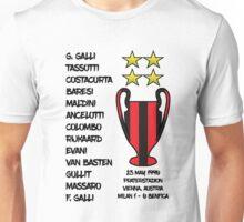 AC Milan 1990 European Cup Final Champions Unisex T-Shirt