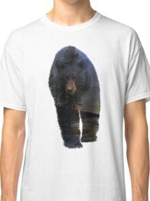 Animal Tracks - Black Bear and Snow Classic T-Shirt