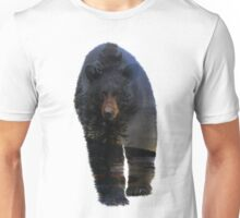 Animal Tracks - Black Bear and Snow Unisex T-Shirt
