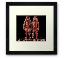 Let Zygons Be Zygons Framed Print
