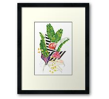 Tropical Shapes Framed Print