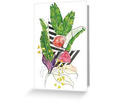 Tropical Shapes Greeting Card