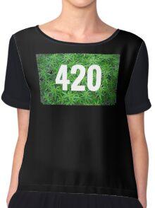 420 green Chiffon Top