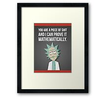 Rick And Morty - Proven Framed Print