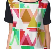 Seamless triangle bright pattern background geometric abstract texture Chiffon Top