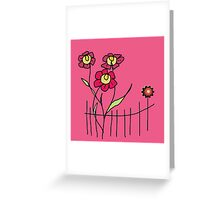 Flower behind the fence Greeting Card