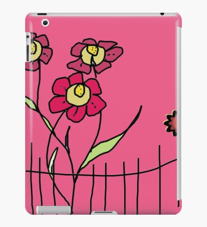 Flower behind the fence iPad Case/Skin