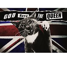 God Save The Queen Cat Photographic Print