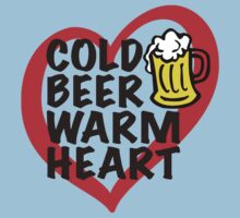 Cold Beer Warm Heart One Piece - Short Sleeve