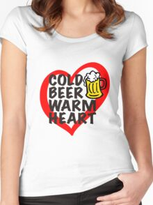 Cold Beer Warm Heart Women's Fitted Scoop T-Shirt