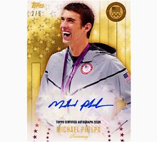 """MICHAEL PHELPS - topps certified autograph issue """" swimming """" Unisex T-Shirt"""