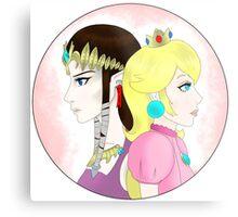 Princess vs. Princess Metal Print