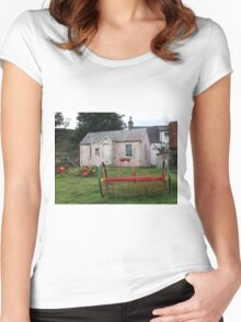Old School Crofting equipment Women's Fitted Scoop T-Shirt