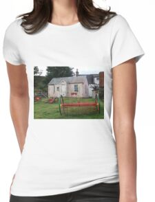 Old School Crofting equipment Womens Fitted T-Shirt