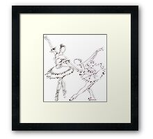 SKETCH MONSTER: BALLERINAS Framed Print