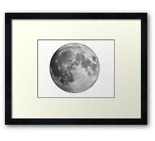 Full moon large Framed Print