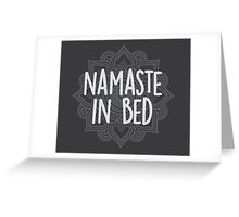 Namaste in Bed Greeting Card